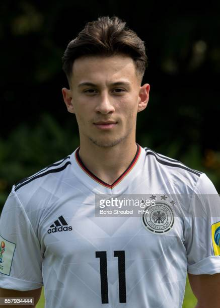 Nicolas Kuehn of Germany pose ahead of the FIFA U17 World Cup India 2017 tournament at Park Hyatt Goa Resort on October 5 2017 in Goa India