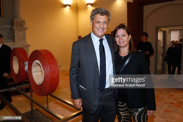 Nicolas Kugel and his wife Natalie Kugel attend the Kering Heritage Days Opening Night at 40 Rue de Sevres on September 14 2018 in Paris France
