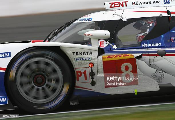 Nicolas Lapierre of France drives the Toyota Racing Toyota TS040 Hybrid LMP1 during the FIA World Endurance Championship 6 Hours of Silverstone...