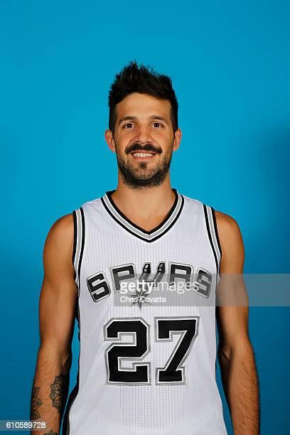 Nicolas Laprovittola of the San Antonio Spurs poses for a headshot during the 20162017 San Antonio Spurs Media Day at the Spurs Training Facility on...