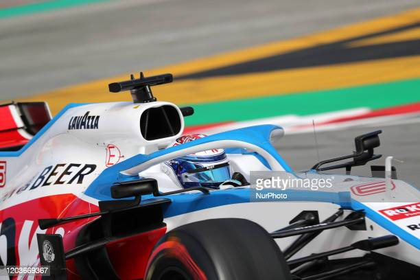 Nicolas Latifi and the Williams FW 43 during the day 5 of the formula 1 testing on 27 February 2020 in Barcelona Spain