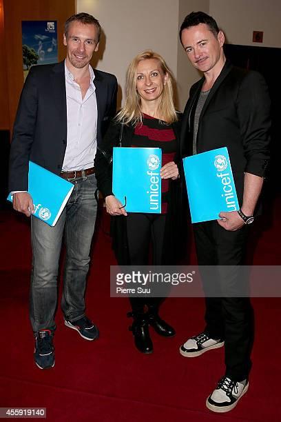Nicolas Le Riche Natalie Dessay and Frederic Fontan attend the 'Frimousses de Createurs 2014' Press Conference at Theatre du Chatelet on September 22...
