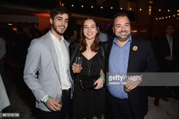 Nicolas Leal Thais Barraque and Stephane Barraque attend DuJour's Jason Binn And WellNEST Celebrate Miami Beach's Art Basel KickOff at The Confidante...