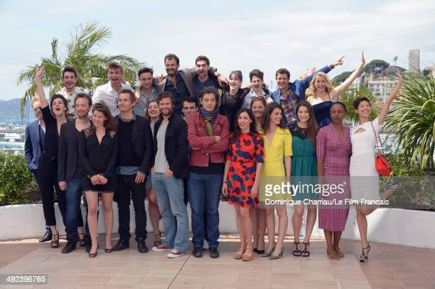 Nicolas Lebrun Francois Goetghebeur Benjamin Biolay Olivia Ruiz Dyana Gaye Alexis Michalik and other talent attend the ADAMI Photocall at the 67th...