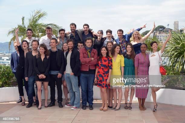 "Nicolas Lebrun , Francois Goetghebeur , Benjamin Biolay , Olivia Ruiz , Dyana Gaye , Alexis Michalik and other talent attend the ""ADAMI"" Photocall at..."