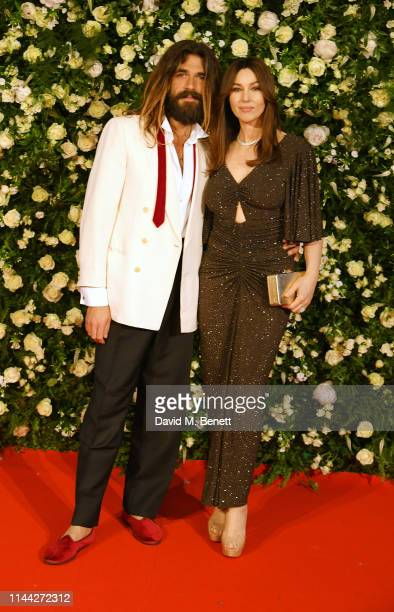 Nicolas Lefebvre and Monica Bellucci attend the 10th Annual Filmmakers Dinner hosted by Charles Finch Edward Enninful and Michael Kors at the Hotel...