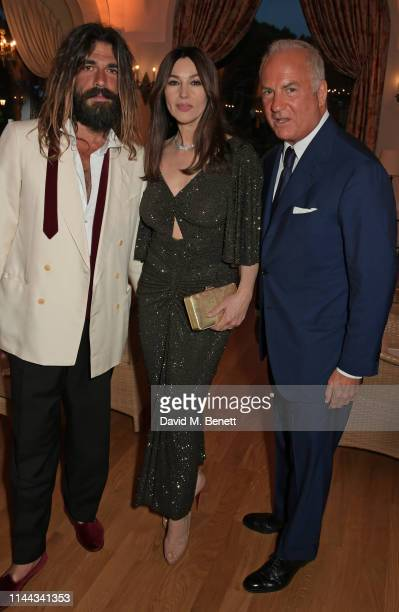 Nicolas Lefebvre Monica Bellucci and CEO of Finch Partners Charles Finch attend the 10th Annual Filmmakers Dinner hosted by Charles Finch Edward...