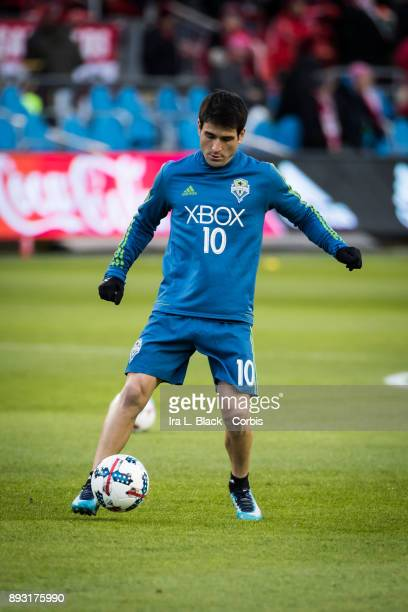 Nicolas Lodeiro of Seattle Sounders warms up during the 2017 Audi MLS Championship Cup match between Toronto FC and Seattle Sounders FC at BMO Field...