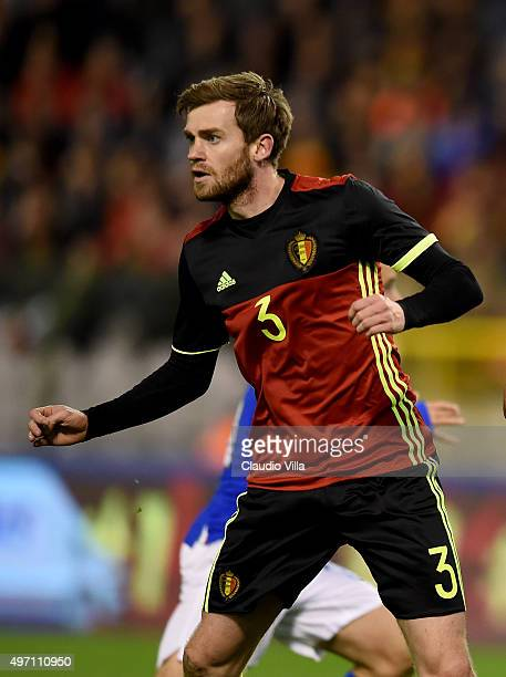 Nicolas Lombaerts of Belgium looks on during the international friendly match between Belgium and Italy at King Baudouin Stadium on November 13 2015...