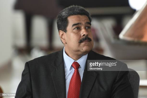 Nicolas Maduro Venezuela's president attends the reopening event of the Humboldt Hotel in the Waraira Repano National Park in Caracas Venezuela on...