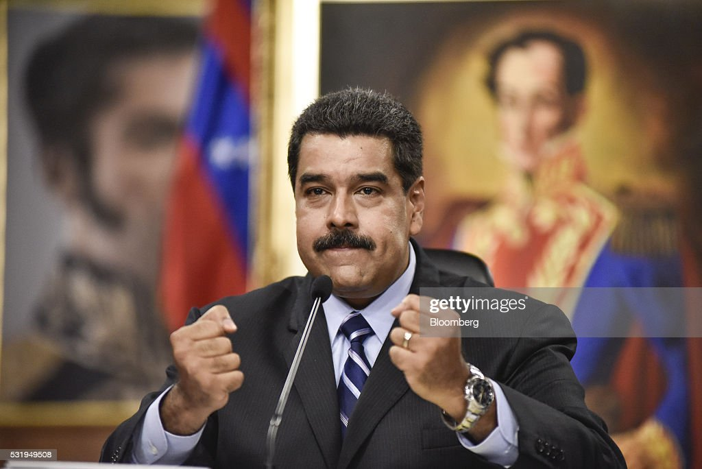 Venezuelan President Nicolas Maduro News Conference As The Country Moves To Slash Imports To 12-year Low