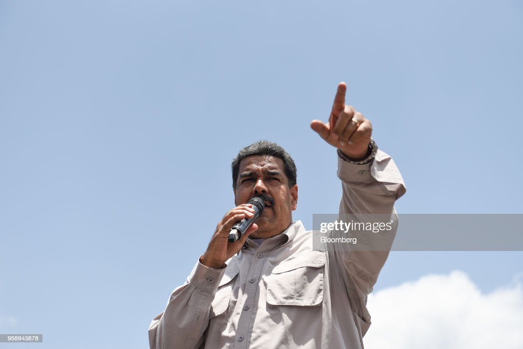 President Nicolas Maduro Holds Campaign Rally