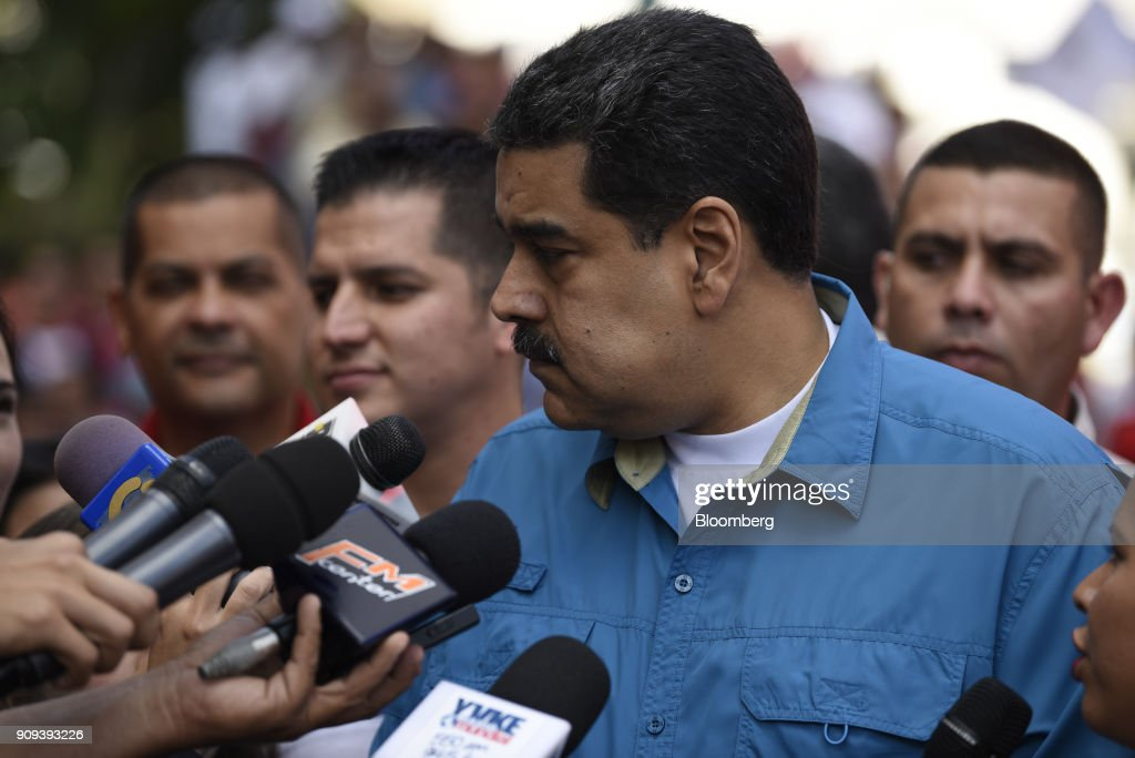 President Maduro Attends Rally As EU Blacklists Seven Key Venezuela Officials
