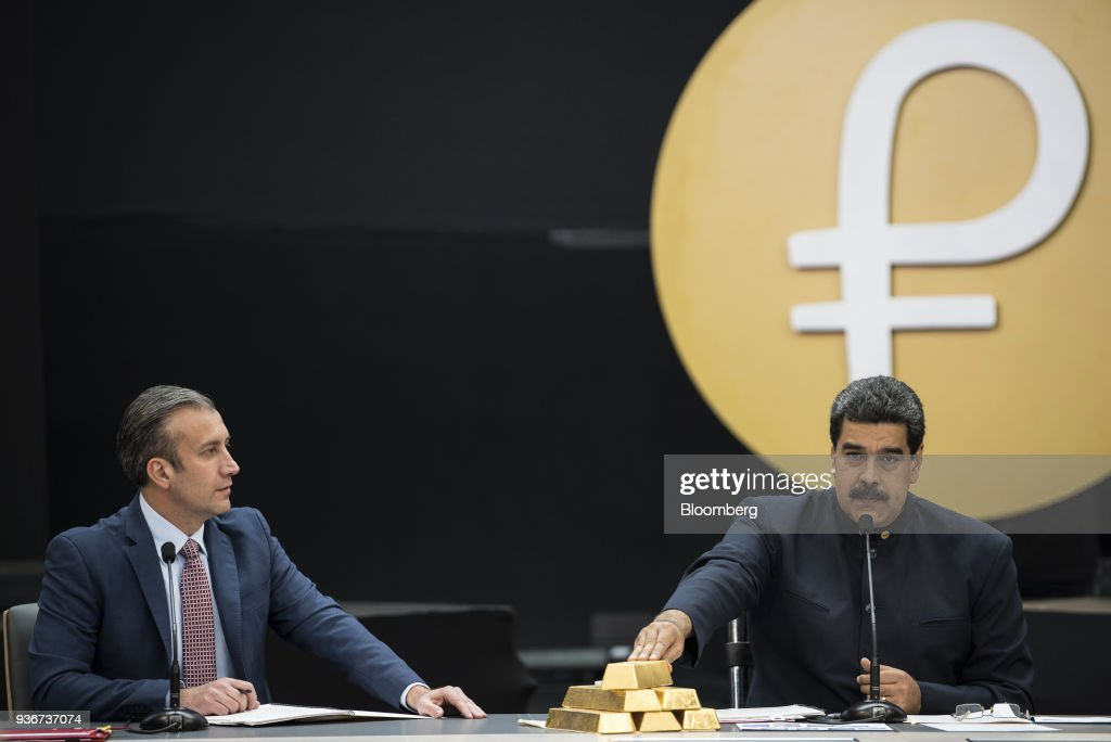 Maduro Holds Press Briefing On 'Petro' As U.S. Bans Venezuelan Digital Currency