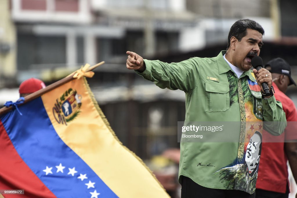 President Nicolas Maduro Holds Final Campaign Rally Ahead Of Venezuelan Elections : News Photo