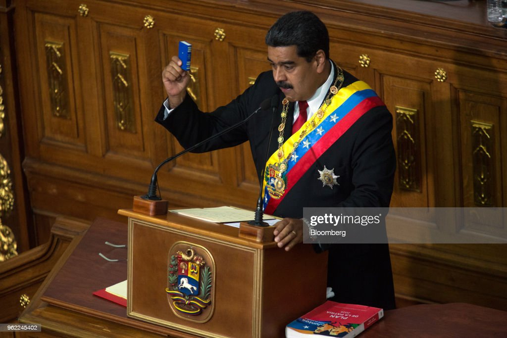 President Maduro Delivers Speech To The Constituent National Assembly Following Re-Election : News Photo