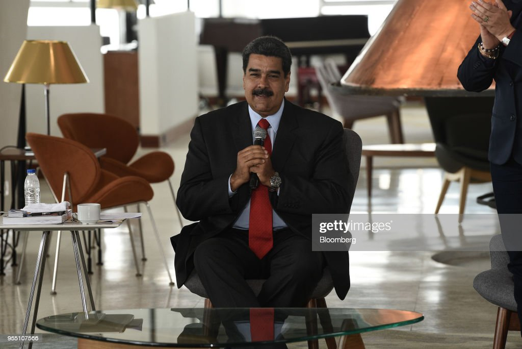 President Nicolas Maduro Attends The Reopening Of The Luxury Humboldt Hotel : News Photo