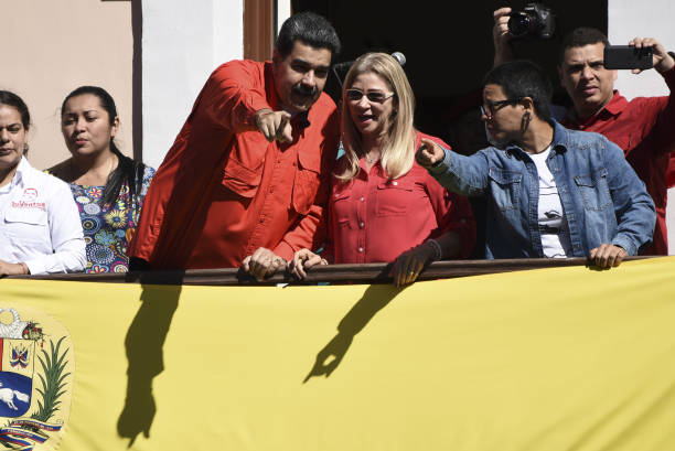 VEN: President Maduro Delivers A Speech At Miraflores Palace
