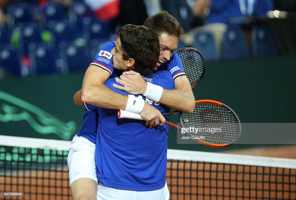 France v Serbia - Davis Cup World Group Semi Final: Day Two