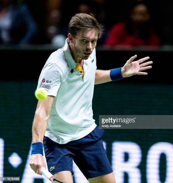 Nicolas Mahut from France in his First Round match against David Goffin from Belgium during day 2 of the ABN AMRO World Tennis Tournament held at...
