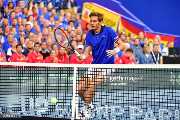 Nicolas Mahut of France during Day 2 of the Davis Cup semi final on September 15 2018 in Lille France
