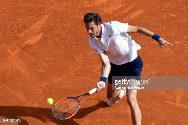 Nicolas Mahut of France during the Masters 1000 Monte Carlo qualifications at Monte Carlo on April 14 2018 in Monaco Monaco
