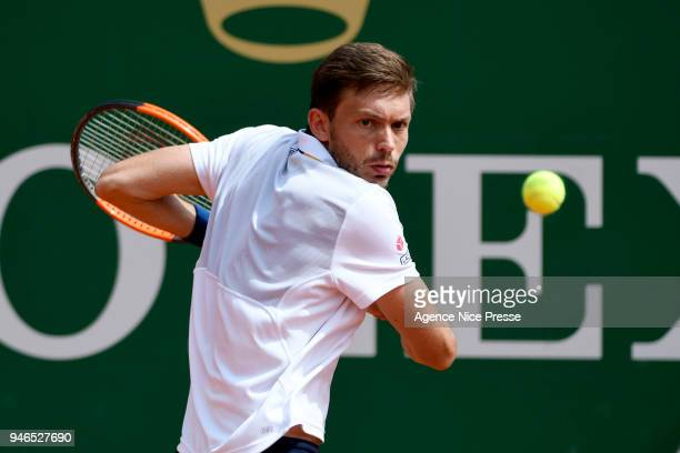 Nicolas Mahut of France during the Masters 1000 Monte Carlo qualifications at Monte Carlo on April 15 2018 in Monaco Monaco