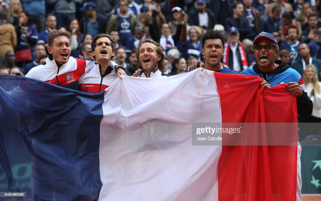 France v Serbia - Davis Cup World Group Semi Final: Day Three