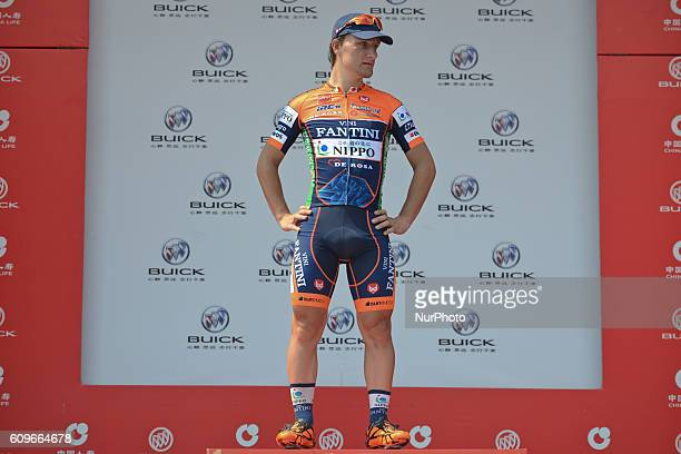 Nicolas Marini from Nippo Vini Fantini looses the Yellow Jersey race leader to his teammate Riccardo Stacchiotti after the 116km Liling Circuit Race...
