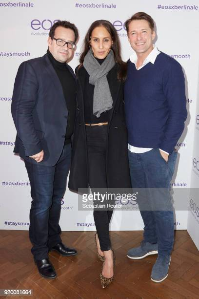 Nicolas Maurer of Outerinsight Bruno Eyron and his girlfriend Friederike Dirscherl attend Celebrating Women In Film hosted by Riccardo Simonetti for...