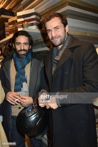 Nicolas Medad and Gregory Fitoussi attend the MCS 'We The People' launch party at MCS Champs Elysees on November 27 2012 in Paris France