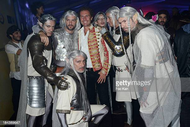 Nicolas Merau and members of Knights of the Ring attend the 'Tournoi des 16 Royaumes' Costume Ball hosted by Les Ambassadeurs 12th Edition at the...