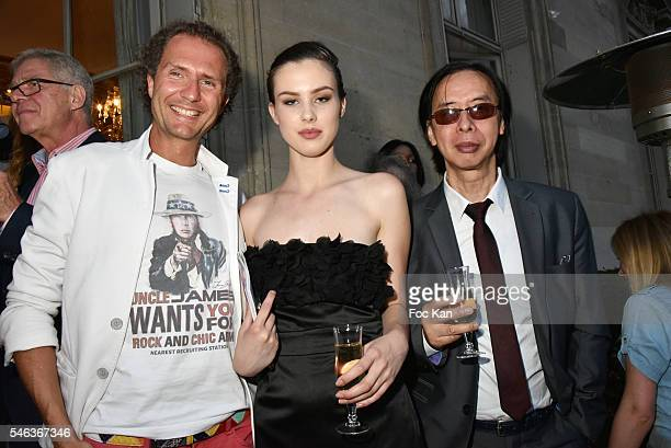 Nicolas Mereau a Model and photographer Patrick Le Hec'h attend Serbia Fashion Day at Residence de L'Ambassadeur In PAris on July 11 2016 in Paris...