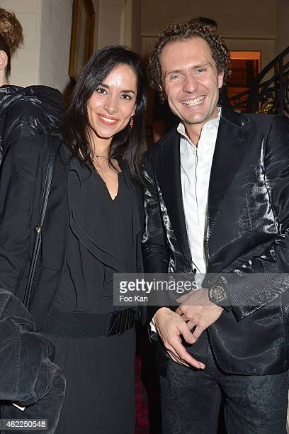 Nicolas Mereau and a guest attend the Legends of Monaco show as part of Paris Fashion Week Haute Couture Spring/Summer 2015 on January 25 2015 in...