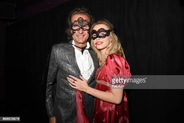 Nicolas Mereau and Julie Jardon attend the Bal des Vampires 2017 at Pavillon Champs Elysees on October 31 2017 in Paris France