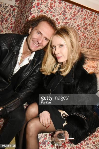 Nicolas Mereau and Valerie Steffent attend Antik Batik Party at Antik Batik Shop Rue des Minimes on January 30 2018 in Paris France