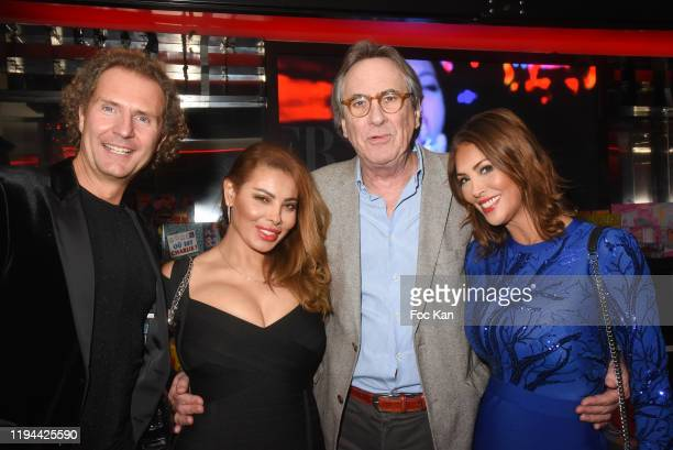 Nicolas Mereau Miss Amal Maizou Singer Philippe Lavil and Yasmine Lafitte attend Hopital Necker Children XMas Party at VIP Room Theater on December...