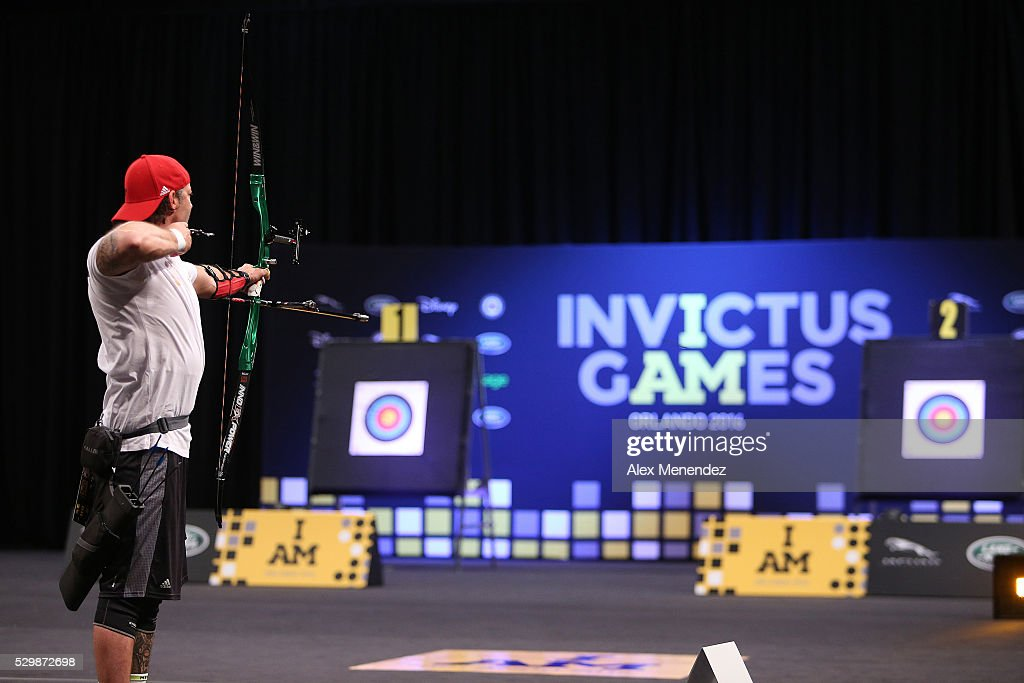 Nicolas Meunier of Canada is seen during the Invictus Games Orlando 2016 Archery Finals at the ESPN Wide World of Sports Complex on May 9, 2016 in Lake Buena Vista, Florida.