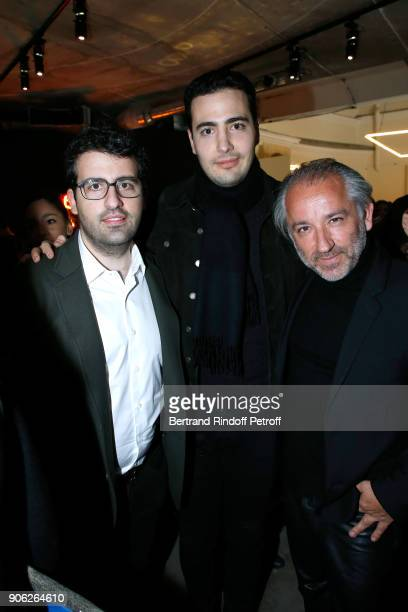 Nicolas Meyers JeanVictor Meyers and Deputy Chief Executive Officer of L'Oreal Luxe Cyril Chapuy attend the 'YSL Beauty Hotel' event during Paris...