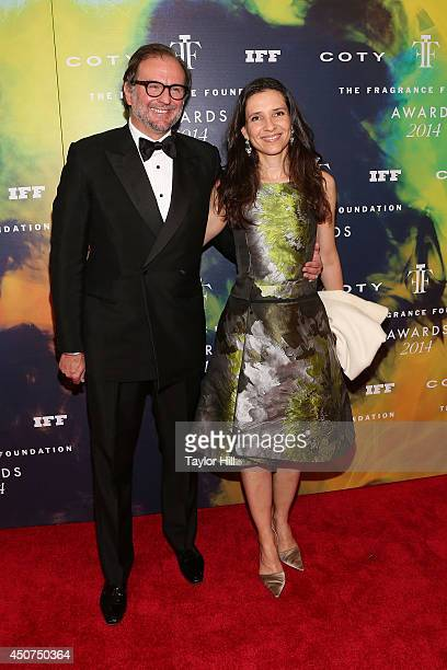 Nicolas Mirzayantz and Princess Alexandra of Greece attend 2014 Fragrance Foundation awards at Alice Tully Hall, Lincoln Center on June 16, 2014 in...