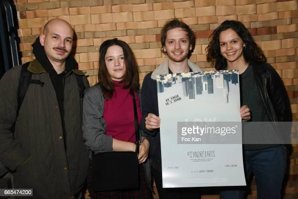 Nicolas Moreau actress Audrey Bastien director Laurier Fourniau and actress Delia Espinat Dief attend 'Low Notes' Film Screening at Cinema Saint...