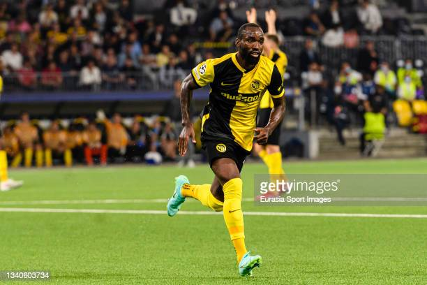 Nicolas Moumi of Young Boys runs on the field during the UEFA Champions League group F match between BSC Young Boys and Manchester United at Stadion...