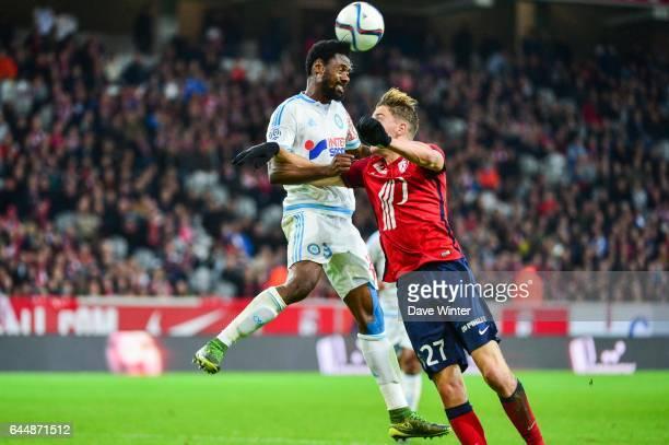 Nicolas NKOULOU / Baptiste GUILLAUME Lille / Marseille 11eme journee de Ligue 1 Photo Dave Winter / Icon Sport