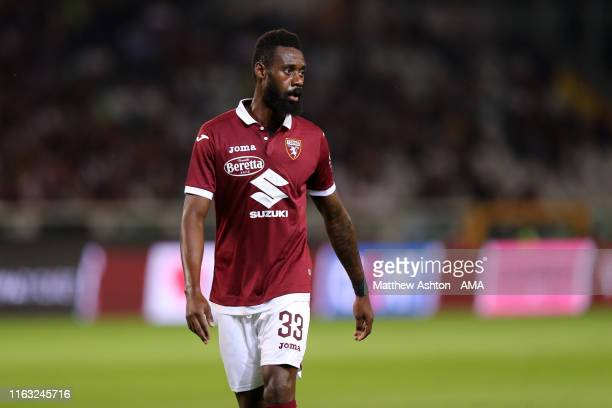 Nicolas Nkoulou of Torino during the UEFA Europa League Play-Off match between Torino and Wolverhampton Wanderers at the Olympic Grande Torino...