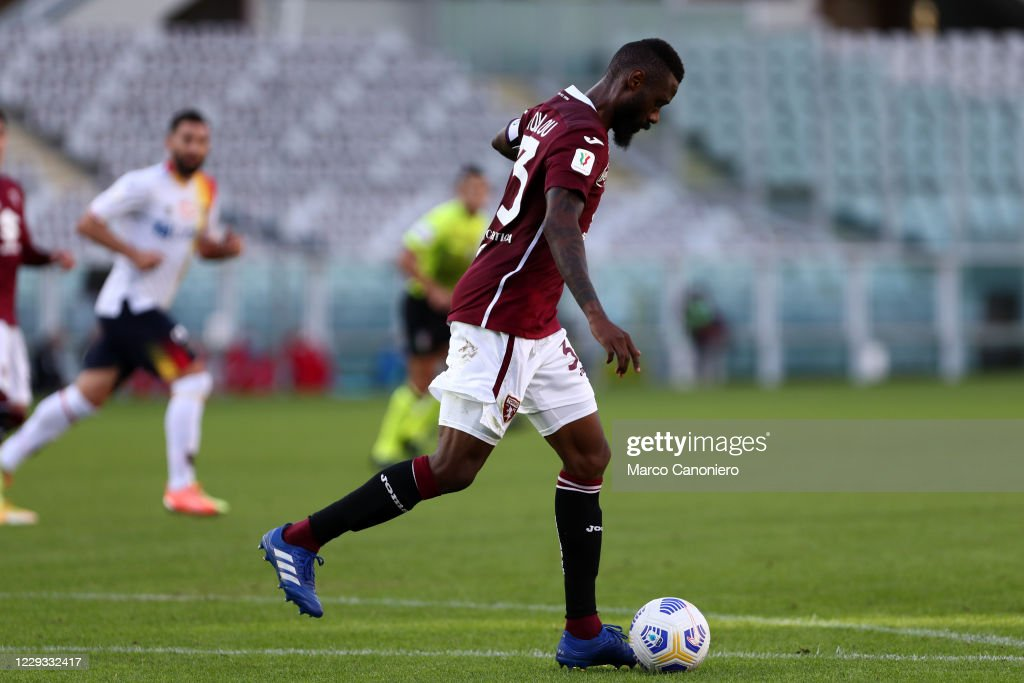 Nicolas N'Koulou of Torino FC in action   during the Coppa... : ニュース写真