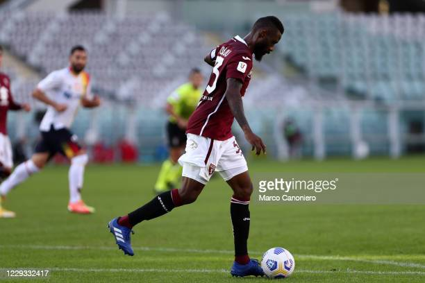 Nicolas N'Koulou of Torino FC in action during the Coppa Italia match between Torino Fc and Us Lecce. Torino Fc wins 3-1 over Us Lecce.