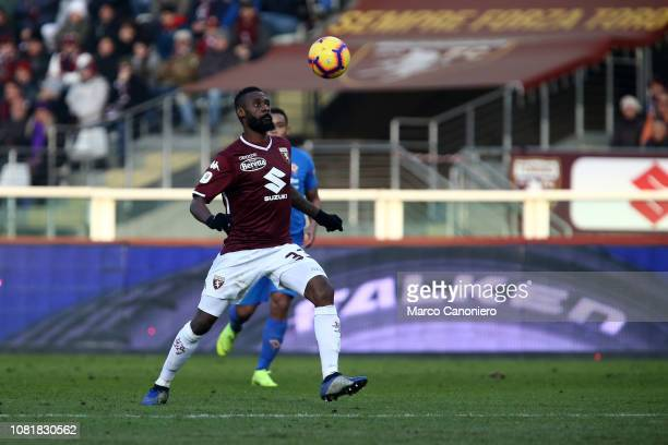 Nicolas NKoulou of Torino FC in action during the Italia Tim Cup football match between Torino Fc and Acf Fiorentina. Afc Fiorentina wins 2-0 over...