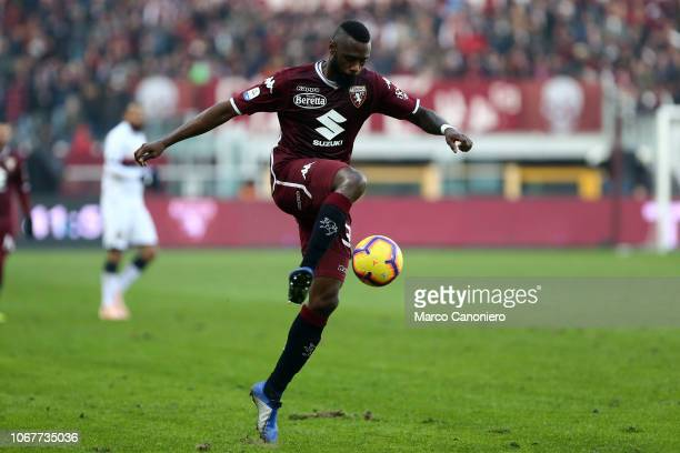 Nicolas N'Koulou of Torino FC in action during the Serie A football match between Torino Fc and Genoa Cfc. Torino Fc wins 2-1 over Genoa Cfc.
