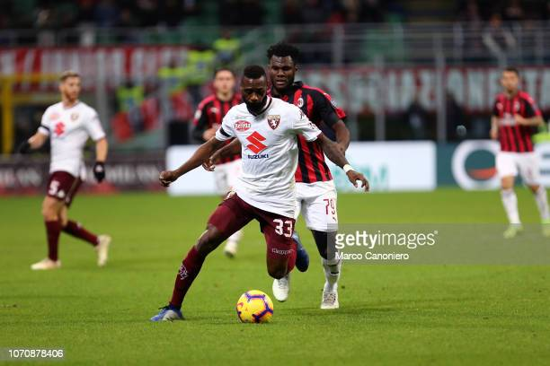 Nicolas N'Koulou of Torino FC in action during the Serie A football match between Ac Milan and Torino Fc. The match end in a tie 0-0.