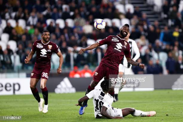 Nicolas N'Koulou of Torino FC in action during the Serie A football match between Juventus Fc and Torino Fc. The match ends in a tie 1-1.